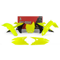 Racetech Plastic Kits Suzuki Replica 2018 5pcs Fluo Yellow