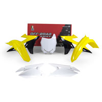 Racetech Plastic Kits Suzuki Replica 2018 White Yellow Black