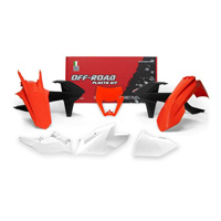 Racetech Plastics Kit Replica 6 Pzs Ktm Orange Blanc