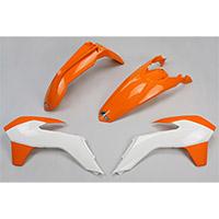 Ufo Kit Plastiche Ktm Exc 14-16 Arancio Bianco