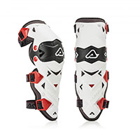 Acerbis Impact Evo 3.0 Knee Guards Bianche