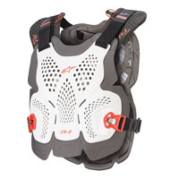 Protection Poitrine Alpinestars A-1 Plus Blanc Rouge