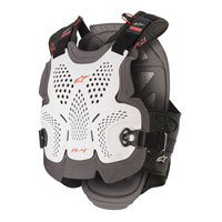 Alpinestars A-4 Max Chest Protection White Red