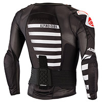 Corpetto Alpinestars Sequence Ls Bianco Rosso