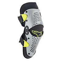 Alpinestars Sx-1 Youth Knee Guard Gray Yellow Kid