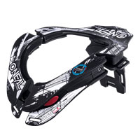 O'neal Tron Neckbrace Shocker Black White