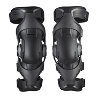 Pod Mx K4 V2 Youth Knee Guards Pair Black Graphite Kid
