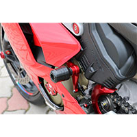 Tamponi Paratelaio Cnc Racing Panigale V4 Rosso