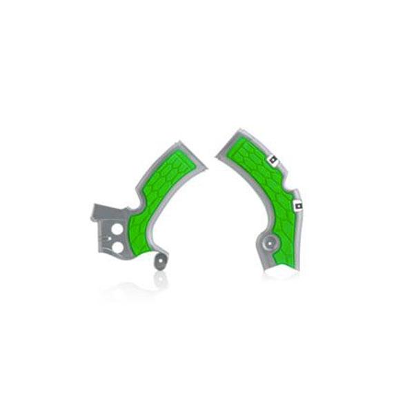Acerbis Protezione Telaio X - Grip Kawasaki Kxf 450 09/17 Silver/verde