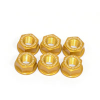 Ducabike Nuts Set Sprocket Carrier Ducati Gold