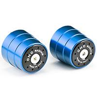Cnc Contrappesi Manubrio Bi-color Blu