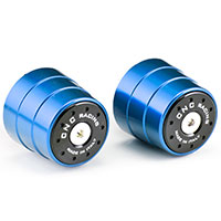 CNC HANDLEBAR BALANCERS BI-COLOR BLUE
