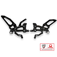 Cnc Racing Pe409 Pramac Ltd Rearsets Black