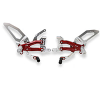Cnc Racing Pe409 Pramac Ltd Rearsets Silver Red