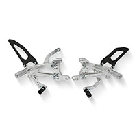 Cnc Racing Pe410 Streetfighter V4 Rearsets Silver