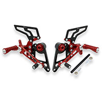 Cnc Racing Rear Sets Ducati Hypermotard Red