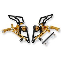 Cnc Racing Pe100g Rear Sets Ducati Monster Gold