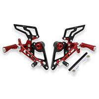 Estribos Cnc Racing Ducati Monster S2/4R rojo
