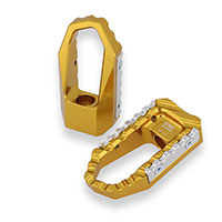 Cnc Racing Touring Driver Footpegs Gold