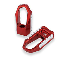 Cnc Racing Touring Driver Footpegs Red