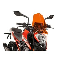 Puig Naked N.g. Sport Screen Ktm 125 Duke 17-18 Orange