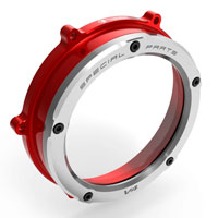Clutch Cover Ducabike Panigale V4 Red Silver
