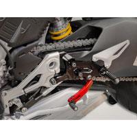 Ducabike Rearset ajustable Ducati Streetfighter V4 rojo