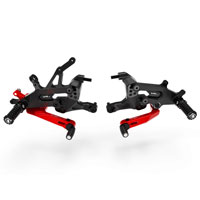 Ducabike Adjustable Rearset Ducati Streetfighter V4 Red