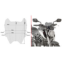 Givi A1164 Screen Smoked Honda Cb125/300r