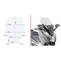 Givi D1166st Screen Clear Honda Forza