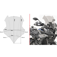 Givi D2139s Windscreen For Yamaha Tracer 900 2018