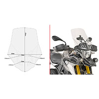 Écran Givi D5126st Transparent Bmw G310gs