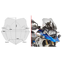 Givi Kit Spoiler D5128kit Bmw R1200gs