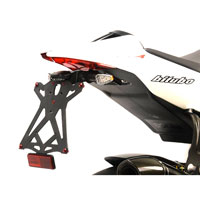 LIGHTECH ADJUSTABLE LICENSE PLATE BRACKETS WITH RETROREFLECTOR APRILIA