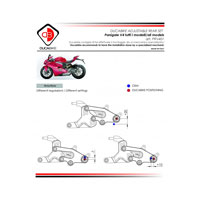 Ducabike Pedane Regolabili Sbk Panigale V4 Rosso