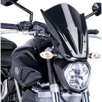 Puig Cupolino Naked New Generation Touring Yamaha Mt-07 14-16 Nero