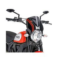 Puig Cupolino Naked Ducati Scrambler 15 Fumè Scuro / Nero