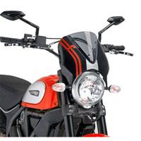 Puig Cupolino Naked Ducati Scrambler 15 Fumè Chiaro / Nero
