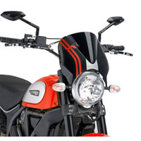Puig Cupolino Naked Ducati Scrambler 15 Nero / Nero