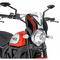 Puig Cupolino Naked Ducati Scrambler 15 Trasparente / Nero