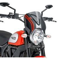 Puig Cupolino Naked Ducati Scrambler 15 Fumè Chiaro / Carbonio