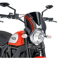Puig Cupolino Naked Ducati Scrambler 15 Nero / Carbonio