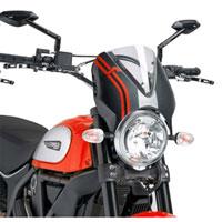 Puig Cupolino Naked Ducati Scrambler 15 Trasparente / Carbonio