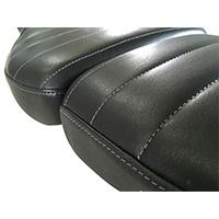 Unit Garage Leather Saddle Cover Black