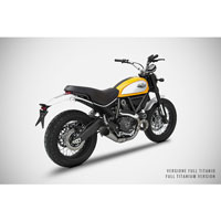 Zard  2>1 Steel Racing Full Kit Ducati Scrambler