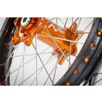 KITE COMPLETE FRONT WEEL ELITE 1.60 X 21 ORANGE/BLUE - KTM SX SXF 03/14 - EXC EXCF 03/15