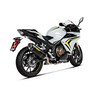 Echappement Carbone Akrapovic Slipon Honda Cb400/500x