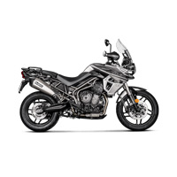 Akrapovic Slip-on Line Titanium Exhaust Triumph Tiger 800 Xc / Xr 2018