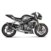 Akrapovic Slip On Carbone Triumph Street Triple