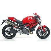 ARROW DUCATI MONSTER696 08/11-796 10/11 MUFFLET THUNDER TITANIUM(DX+SX)CARBY